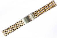 Браслет классический Nobrand для наручных часов комбинированный (серебро , золото), 20 мм