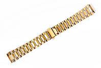 Браслет класичний Nobrand для наручних годинників золотий, 18 мм