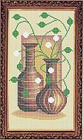 Фурор рукоделия НБп4-19 Натюрморт из кувшинов, схема для вышивания бисером