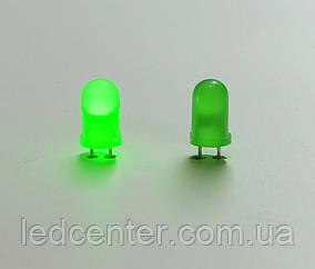 Optosupply вивідний матовий світлодіод 5мм (зелений)