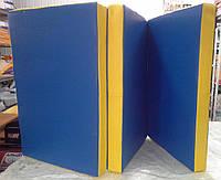 Маты гимнастический раскладной (три сложения) разноцветый 1х2м, фото 1