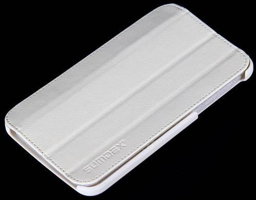 Практичный чехол для планшета Samsung Galaxy Tab3 с диагональю 7 SUMDEX, ST3-720WT белый