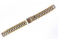 Браслет классический Nobrand для наручных часов комбинированный (серебро , золото), 12 мм