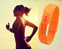 Спортивные LED часы оранжевые