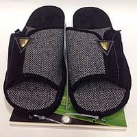 Мужская обувь, комнатные тапочки с открытым носком на анатомической подошве, размер  44