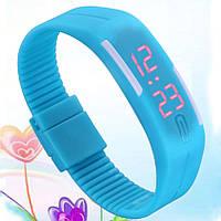 Спортивные LED часы голубые