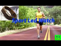 Спортивные LED часы коричневые