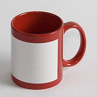 Чашка сублимационная с белой панелью Красная