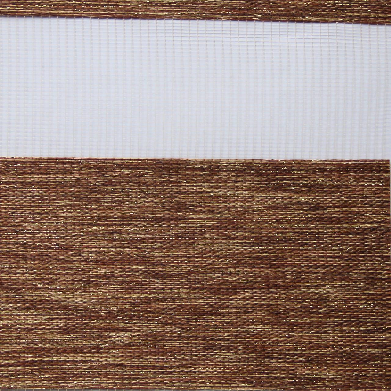 Рулонні штори День-Ніч Тканина Кенія ВН 36 Copper