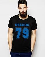 "Футболка мужская ""Reebok"" черная Рибок"