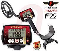 Металлоискатель Fisher F22 Официальная гарантия 2 года. Бесплатная доставка!