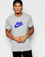 """Футболка мужская """"Nike"""" серая Найк"""