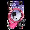 Противоугонный велозамок, 65 см, розового цвета