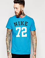 "Футболка мужская ""Nike 72"" голубая Найк"