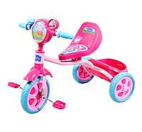 Велосипед детский 3-х колесный лицензионный PEPPA (массажное сиденье, звонок, корзина, пропеллер)
