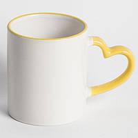 Чашка цветная LOVE Желтая