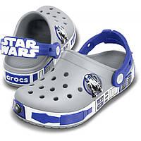 Кроксы для мальчика Звездные Войны светятся оригинал Сабо Crocs Kids' Crocband Star Wars R2D2 Clog
