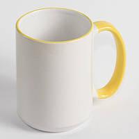 Чашка сублимационная 425 мл с ободком 425 мл Желтая