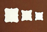 Чипборд Рамки, 3 шт. (5, 4, 3 см)