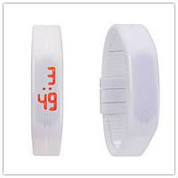 Спортивные LED часы белые