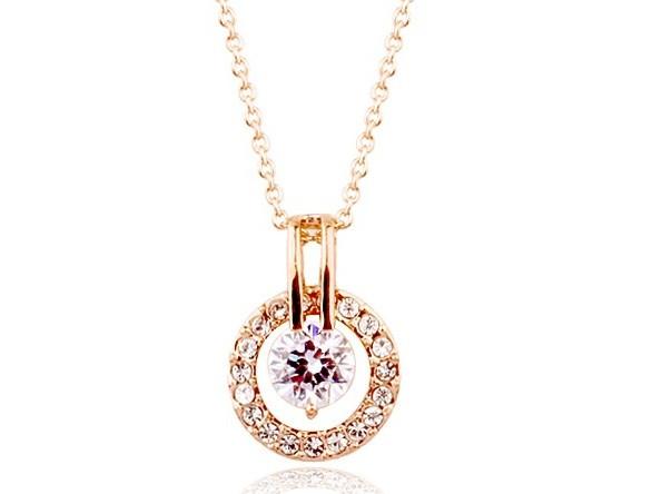 Кулон ОДЕТТ ювелирная бижутерия золото 18К декор кристаллы Swarovski
