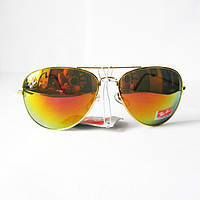 Скидка 30% на очки солнцезащитные Ray-Ban Aviator оранжевое зеркало