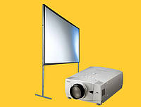 Прокат проектора с экраном