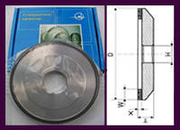 Круги алмазные шлифовальные плоские с выточкой 6А2. А.круг плоско-тарельчатый