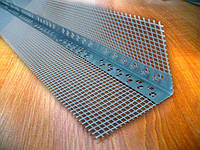 Уголок алюминиевый перфорированный с армирующей сеткой