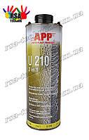 """APP-U210(ЧЕРНЫЙ)Средство для защиты кузова и жидкая уплотнительная масса (герметик) """"2 в 1"""" 1л"""