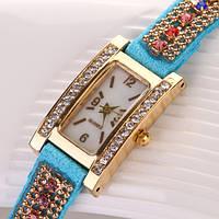 Шикарные часы-браслет. Голубые (Код 03)