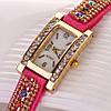 Шикарные часы-браслет.  Розовые. (Код 03)