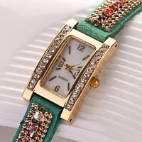 Шикарные часы-браслет.  Зеленые. (Код 03)