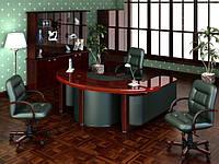 Кабинет руководителя Chopin green leather