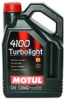 Автомобильное моторное масло Motul 4100 Turbolight 10W-40 (4л) 387607