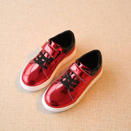 Кроссовки для девочек красные, фото 2
