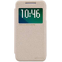 Кожаный чехол Nillkin Sparkle для HTC Desire 510 золотистый