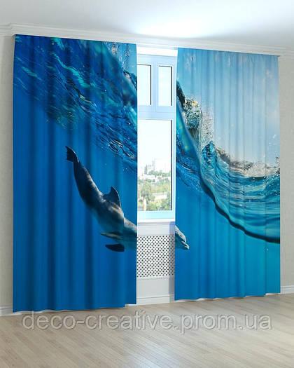 Фотошторы дельфин в волне