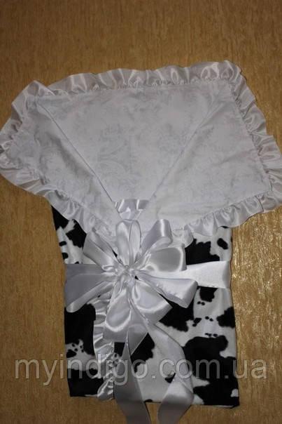 Велюровый конверт-одеяло для новорожденного