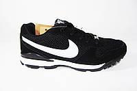 Мужские  кроссовки Nike, сетка/нубук, черные, Р. 42 44 45