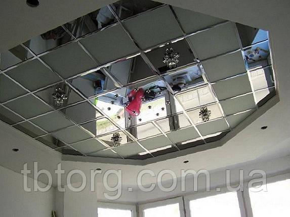 Зеркальный потолок 600х600, фото 2