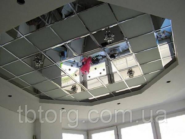 Зеркальный потолок 600х600