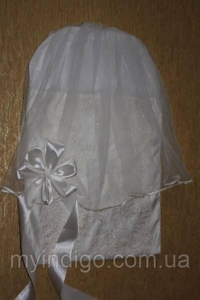 Кружевной конверт для новорожденного на выписку С вуалью