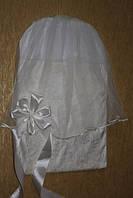 Кружевной конверт для новорожденного на выписку С вуалью, фото 1