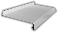 Отлив на окно белый металлический  200мм