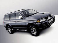 Защита переднего бампера Mitsubishi Pajero Sport (1998-2008)
