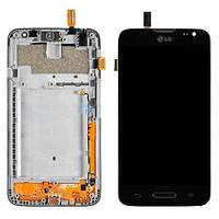 Дисплей (LCD) LG D320 D321 MS323 L70 Dual с сенсором и рамкой Черный Original