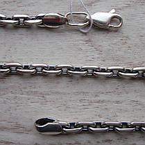 Серебряная цепочка, 600мм, 47 грамм, якорное плетение, фото 2