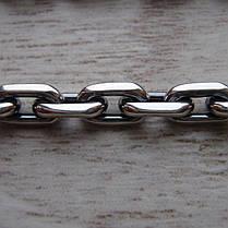 Серебряная цепочка, 600мм, 47 грамм, якорное плетение, фото 3
