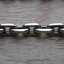 Серебряная цепочка, 650мм, 41,5 грамма, якорное плетение, фото 3